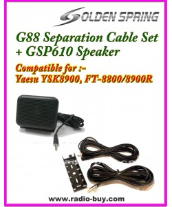G-88 Separation Cable Kit + GSP610 External Speakerfor Yaesu FT-8800R & FT-8900R, YSK-8900, TYT TH9800