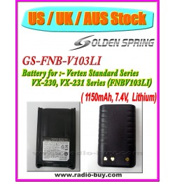 (US / UK / AUS Stock ) Battery for Vertex Standard, GS-FNB-V103LI (1150mAh) Lithium, VX230, VX231 (FNB-V103LI)