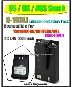 (US / UK / AUS Stock ) G-103LI Battery compatible for Yaesu VX-8R/8DR/8GR/FT1DR (FNB-102LI)
