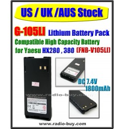 (US / UK / AUS Stock ) G-105LI Battery compatible for Yaesu/Vertex HX280 HX380 (FNB-V105LI)