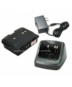 G-15A+G-80LI+Charing Set, Compatible Rapid Charger & Battery for Yaesu 6R (CD-15A FNB-80LI)