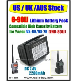 (US / UK / AUS Stock) G-90LI Battery compatible for Yaesu VX-6R/VX-7R/VXA700/710 (High Capacity) FNB-80LI