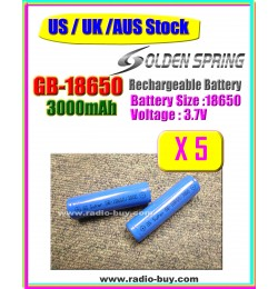 Battery GB-18650 x 10 pcs, Rechargeable battery (3000mAh)**