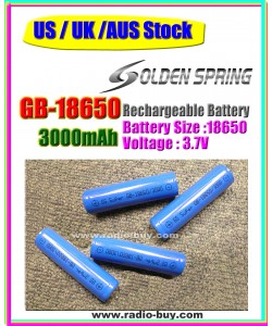 Battery GB-18650 x 4 pcs, Rechargeable battery (3000mAh)*