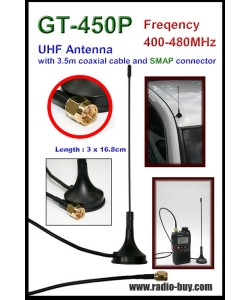 Antenna, GT-450P 400-470MHz, for Handheld radio ,SMAP connector
