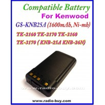 Kenwood - Compatible Battery for KNB-25A(1600mAh, Nimh)TK-2160 TK-2170 TK-3160 TK-3170 ( KNB-25A KNB-26N)