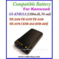 Kenwood - Compatible Battery for KNB-25A(1200mAh, Nimh)TK-2160 TK-2170 TK-3160 TK-3170 ( KNB-25A KNB-26N)