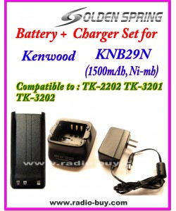 Kenwood - Compatible Battery + Charger for KNB-29N / KNB-45L / KNB-46L (TK2207/2307/3207/3217/3307)