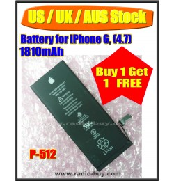 (US / UK / AUS Stock ) Battery for iPhone 6 (1810mAh) P-512 *Buy 1 get 1 Free*