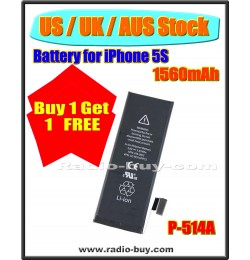 (US / UK / AUS Stock ) Battery for iPhone 5S (1560mAh) P-514A *Buy 1 get 1 Free*