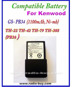 Kenwood - Compatible Battery for PB-34 (1000mAh, Ni mh) TH-22 TH-42, TH-79, TH-308 PB34