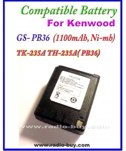 Kenwood - Compatible Battery for PB-36 (1100mAh, Ni mh) TK-235A TH-235A, PB36