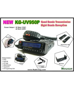 Wouxun KG-UV950P Forth Band Radio 29M/50MHz/136-174MHz/400-480MHz + USB Cable