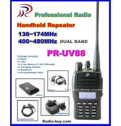 Professional Radio PR-UV88 Dual Band Handheld Repeater (136-174 & 400-480MHz) + Cable