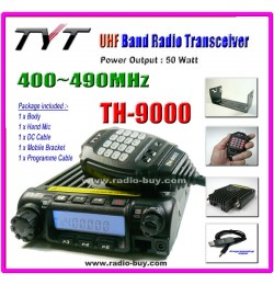 TYT TH-9000 UHF 400-490MHz Mobile + Programme Cable + 2/5 Tone + Voice Scrambler
