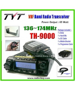 TYT TH-9000 VHF 136-174MHz Mobile + Programme Cable + 2/5 Tone + Voice Scrambler*