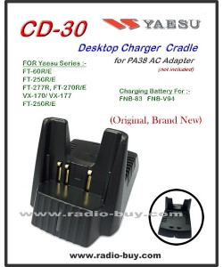 Yaesu, Charger CD30 Desktop Charger Cradle for Yaesu (FNB-83/FNB-V94,FT-60R/VX-170/177 series)