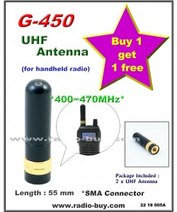 UHF Band Handheld Antenna G-450 (buy 1 get 1 FREE) 400-470MHz