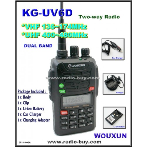 Wouxun KG-UV6D Dual Band Radio (136-174MHz and 400-480MHz)