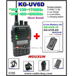 Wouxun KG-UV6D Dual Band Radio (136-174MHz and 400-480MHz) + Additional Battery