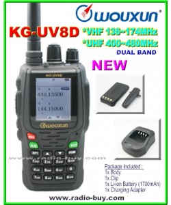 Wouxun KG-UV8D Dual Band Radio (136-174MHz and 400-480MHz)