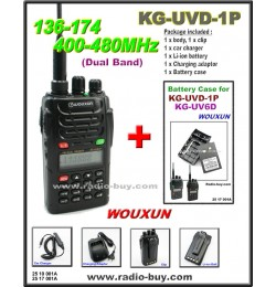 Wouxun KG-UVD1P Dual Band Radio (136-174MHz and 400-480MHz) + Battery Case