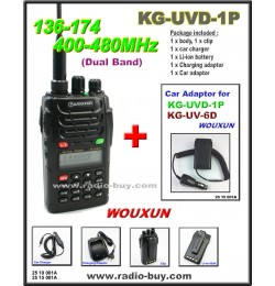 Wouxun KG-UVD1P Dual Band Radio (136-174MHz and 400-480MHz) + Car Adaptor*