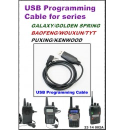 Programming Cable *USB Type for Golden Spring /Baofeng/Wouxun/TYT/Puxing/Kenwood Series