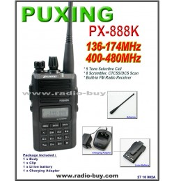 PuXung PX-888K Dual Band Radio(136-174MHz & 400-480MHz) with FM radio