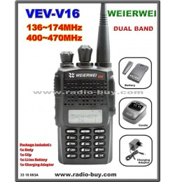 WEIERWEI VEV-V16 Dual Band Amateur Radio (136-174MHz & 400-470MHz)