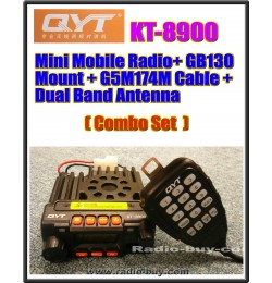 QYT KT-8900 Mini Mobile Radio+ GB130 Mount + G5M174M Cable + Dual Band Antenna