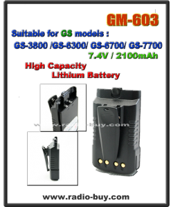 Battery for Golden Spring GS-3800/6300/6700/7700  2100mAh / 7.4V (High Capacity)