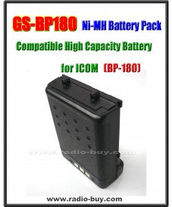 Icom -  Compatible Battery for BP-180, 1100mAh (7.2V) Ni-Mh  **GS-BP180**