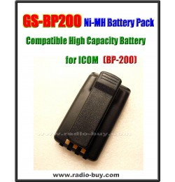 Icom -  Compatible Battery for BP-200, 700mAh (9.6V) ~ 1000mAH (7.2V) Ni-Mh  **GS-BP200**