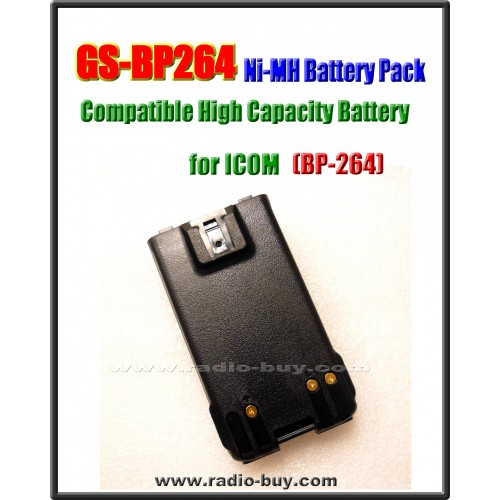 Icom -  Compatible Battery for BP-264, 1400mAh (7.2V) Ni-Mh  **GS-BP264**