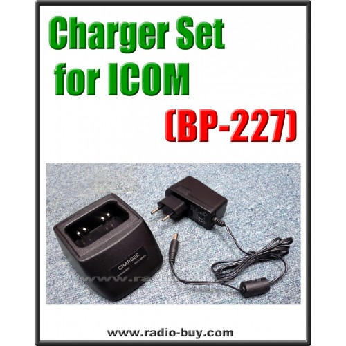 Icom -  Compatible Charger Set for BP-227 (ICOM BP-227, IC-F50 ICF51 ICF60 ICF61 ICM87 ICM88 ICE85 ICV85)