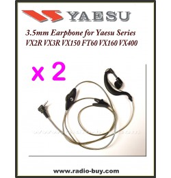 Earphone for Yaesu, VX1R VX2R VX5R FT60R VX150 VX160 (2 PCS)
