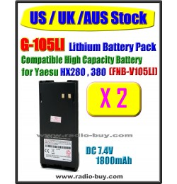 (US / UK / AUS Stock ) G-105LI x 2 pcs Battery compatible for Yaesu/Vertex HX280 HX380 (FNB-V105LI)