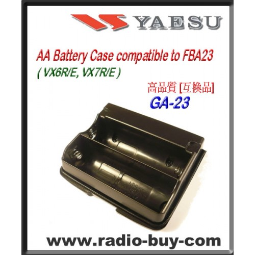 GA-23 Compatible Battery case for Yaesu VX-6R/VX-7R,FBA-23