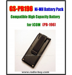 Icom -  Compatible Battery for PP-196, 1100mAh (9.6V) Ni-Mh  **GS-PB196**