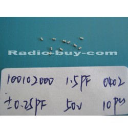 Electronics Component - Capacitors 10010-2000 x 20pc GRM1555C1H1R5CZ01D (SMD 1.5PF ±0.25PF NPO 50V 0402)