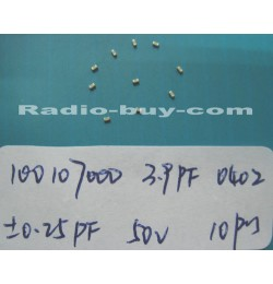 Electronics Component - Capacitors 10010-7000 x 20pc GRM1555C1H3R9CZ01D(SMD 3.9PF ± 0.25PF NPO 50V 0402)