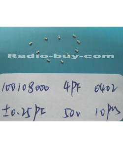 Electronics Component - Capacitors 10010-8000 x 20pc GRM1555C1H4R0CZ01D(SMD 4PF ± 0.25PF NPO 50V 0402)