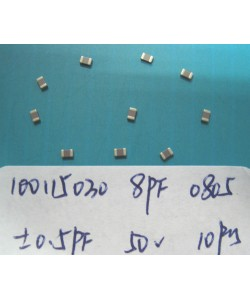 Electronics Component - Capacitors 10011-5030 x 20pc GRM2165C1H8R0DZ01D(SMD 8PF ±0.5PF NPO 50V 0805)