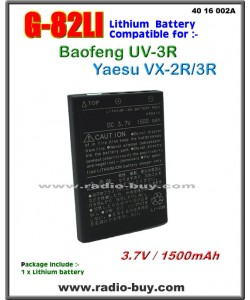 G-82LI Battery compatible for Yaesu VX-3R/Baofeng UV-3R(<1500mAh )