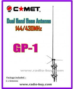 Comet GP1 Base Antenna(144/430MHz) 3.0/6.0dBi (made in Japan) original