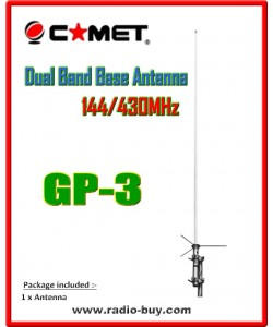 Comet GP3 Base Antenna(144/430MHz) 4.5/7.2dBi(made in Japan) original+ FEDEX/EMS