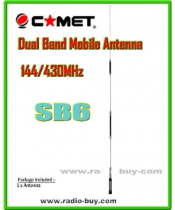 Comet SB6 Moblie Dual Band Antenna(144/430MHz) 3.9/6.4dBi made in Japan (original)