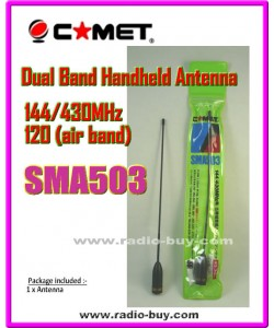 Comet SMA503 Dual Band + Air Band Handheld Antenna (Original)