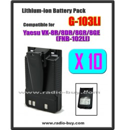 G-103LI x 10 pcs Battery compatible for Yaesu VX-8R/8DR/8GR (FNB-102LI)***